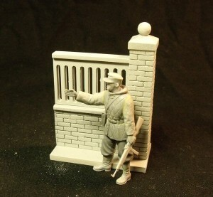 35-29 modular fence wall I. with a figure