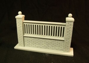 35-30 Modular fence wall II. (longer with 2 columns)