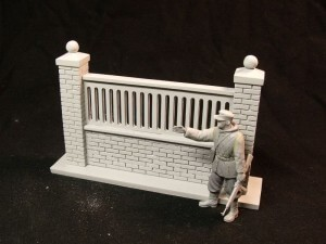 35-30 Modular fence wall II. (longer with 2 columns) with figure